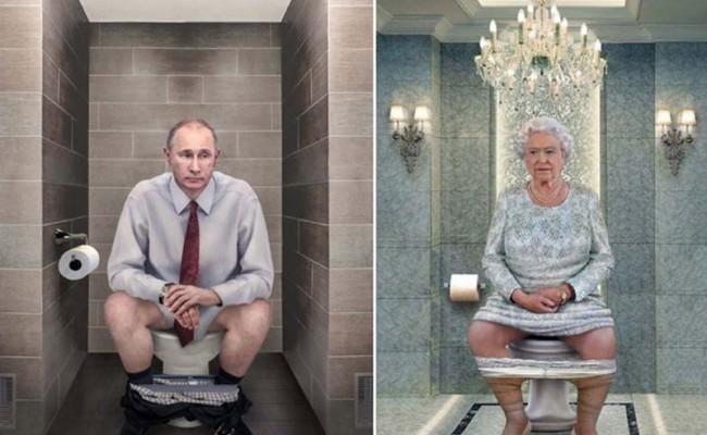 Мировые лидеры на унитазе